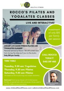 Join the Pilates and Yogalates Classes $10 per Family per session.